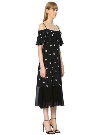 McQ Alexander McQueen Elbise Lacivert